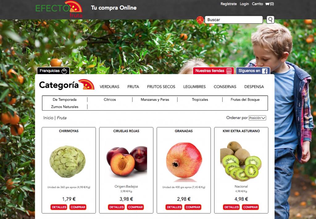 Imagen de la web Efecto fruta