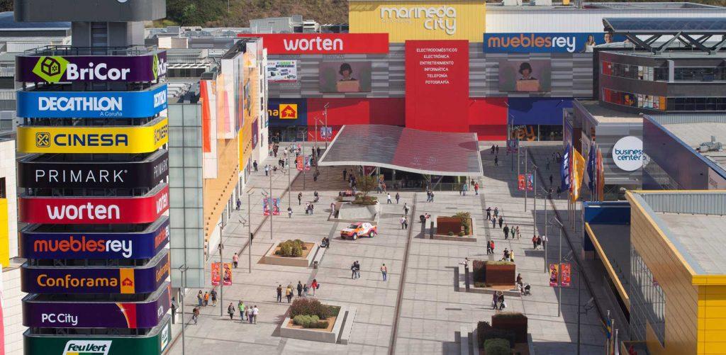 Imagen exterior del centro comercial Marineda en A Coruña